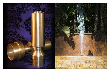 Brass Aerator Jets for Fountains