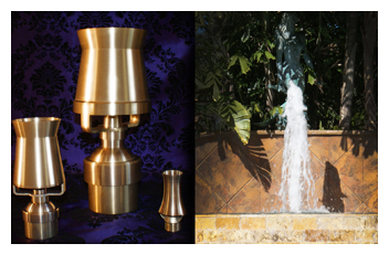 Solid Brass Cascade Jets for Water Fountains
