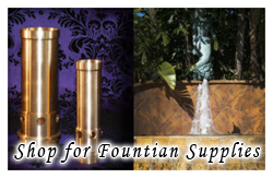 Buy water fountain supplies, nozzles and jets.